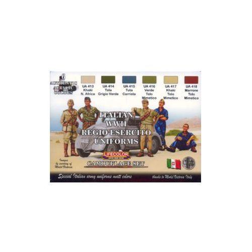 Zestaw kamuflażowych farb  CS14 ITALIAN WWII REGIO ESERCITO UNIFORMS, produkt marki LifeColor
