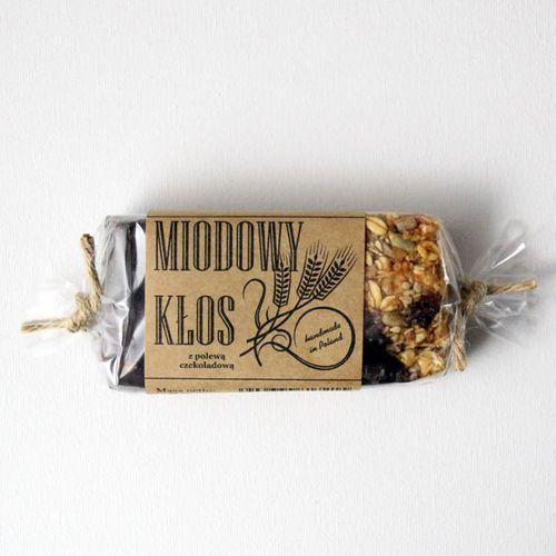 Baton energetyczny z miodem miodowy kłos w gorzkiej czekoladzie 80 g 80 g marki Gospodarstwo pasieczne łysoń