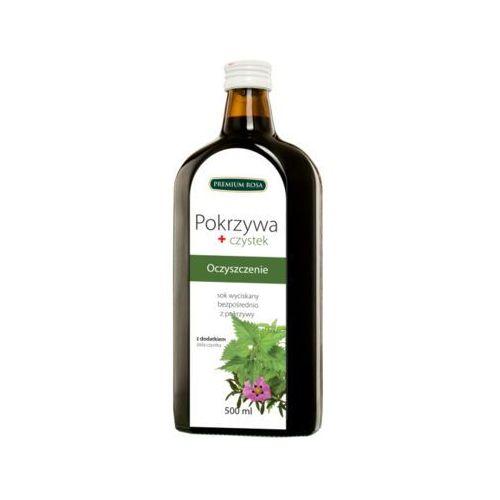Premium rosa 500ml sok 100% pokrzywa + czystek tłoczony na zimno