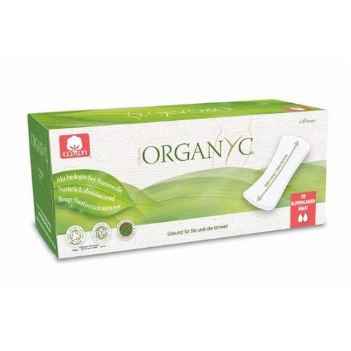Cienkie wkładki higieniczne z bio-bawełny Maxi (♠♠) (8016867003247)