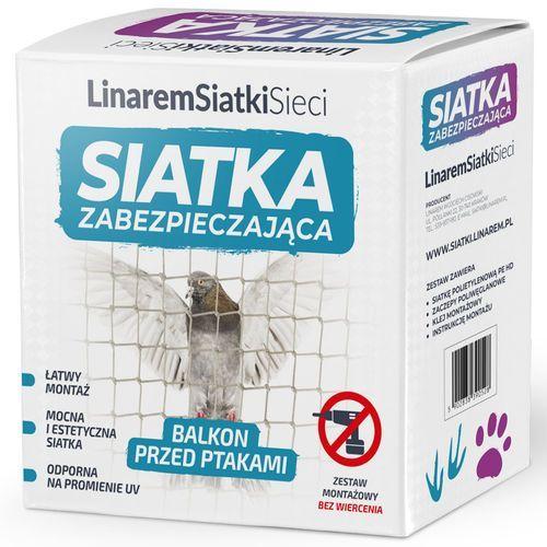 Linarem Siatka na gołębie na balkon. siatka przeciw ptakom 2x3m. zestaw do montażu bez wiercenia.