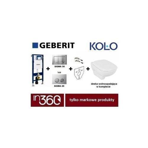 Geberit Koło Style Zestaw Stelaż podtynkowy z miską WC wiszącą, deską w/o (L20112000+L23100000+111.320.00.5+111.815.00.1+115.883.KH.1) IN.000Z390 - produkt z kategorii- Stelaże i zestawy podtynkowe