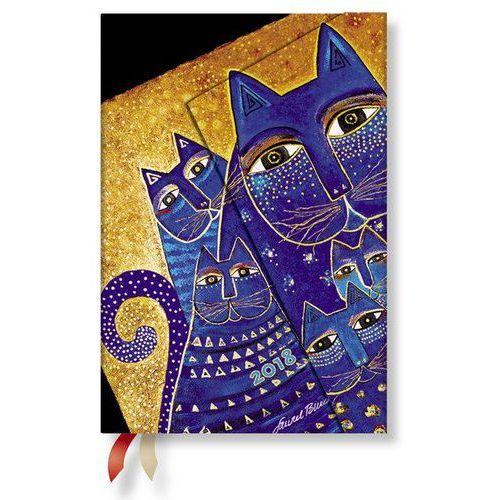 Paperblanks Kalendarz książkowy mini 2018 12m hor. medit. cats
