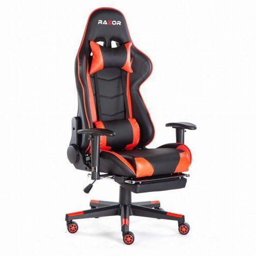 Razor Fotel gamingowy pro gamer™ red z podnóżkiem