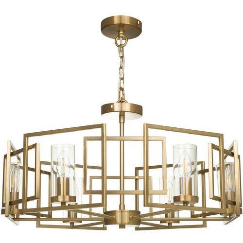 Żyrandol do salonu wiszący, złoty, geometryczny wzór bowi (h009pl-06g) marki Maytoni