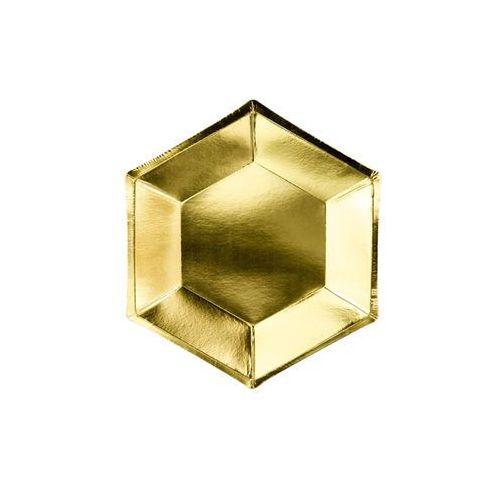 Party deco Talerzyki złote metalizowane - 20 cm - 6 szt.