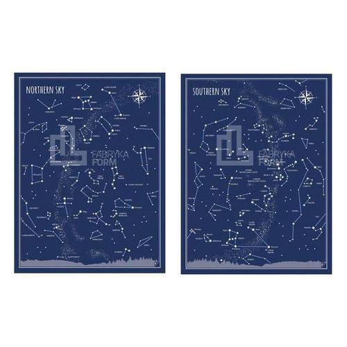 Plakat Nothern Sky i Southern Sky w zestawie 2 szt., zespnpden3040