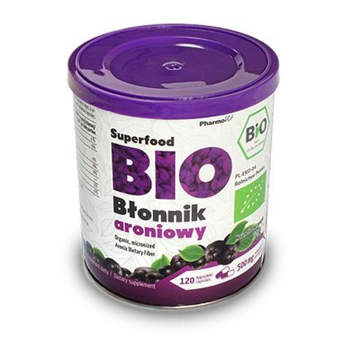 Błonnik pokarmowy aroniowy w kapsułkach BIO 120 kap - PHARMOVIT, 008414
