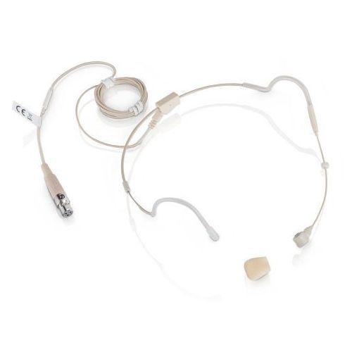 ws 100 mh 3 mikrofon nagłowny pojemnościowy w kolorze beżowym, 3-pin xlr marki Ld systems