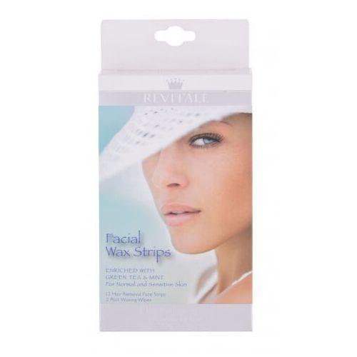 Revitale wax strips facial akcesoria do depilacji 12 szt dla kobiet