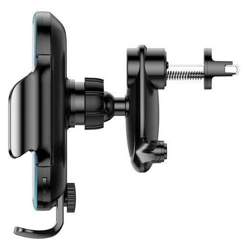 automatyczny elektryczny uchwyt samochodowy bezprzewodowa ładowarka qi 15w czarny (wxhw03-01) marki Baseus