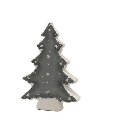 d816e236c807f3 Dekoracja stojąca, Choinka - 16,5 cm - 1 szt. 10,99 zł Ceramiczna popielata  Choinka z gwiazdkami. Dekoracja stojąca na Boże Narodzenie.