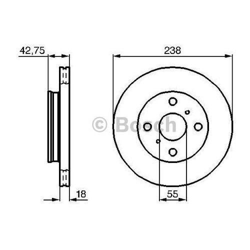 Bosch tarcza hamulcowa; przednia, 0 986 478 438 (4047024093737)