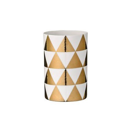 Świecznik na tealight złote trójkąty marki Bloomingville