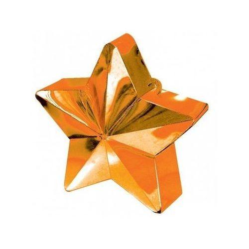 Amscan Obciążnik ciężarek do balonów napełnionych helem - gwiazda pomarańczowa - 170 g.
