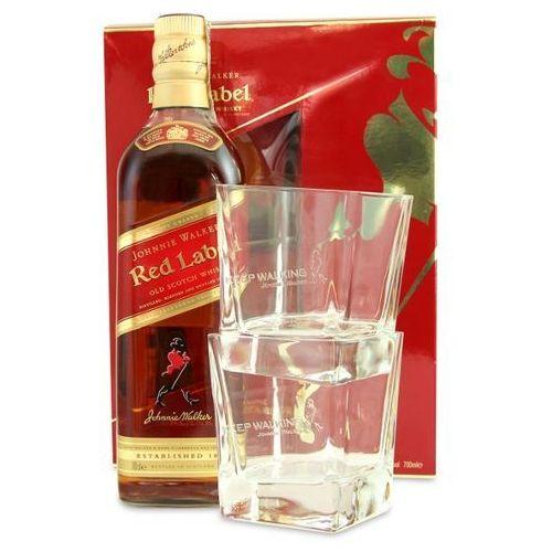 Johnnie walker Whisky red label 0,7 l. + 2 szklanki