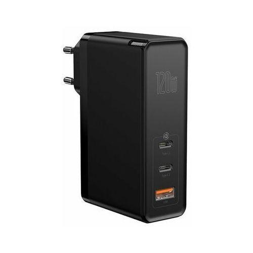 gan2 pro | ładowarka sieciowa 2x type-c 1x usb-a 120w power delivery 3.0 quick charge 4.0 huawei scp samsung fast charge 2.0 + kabel 100w marki Baseus