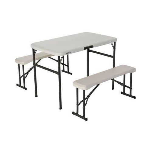 Zestaw ogrodowy stół i dwie ławki 106 cm 80352 marki Lifetime