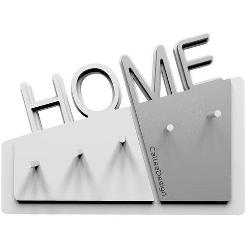 Calleadesign Wieszak na klucze home biały / aluminium (18-001-2)