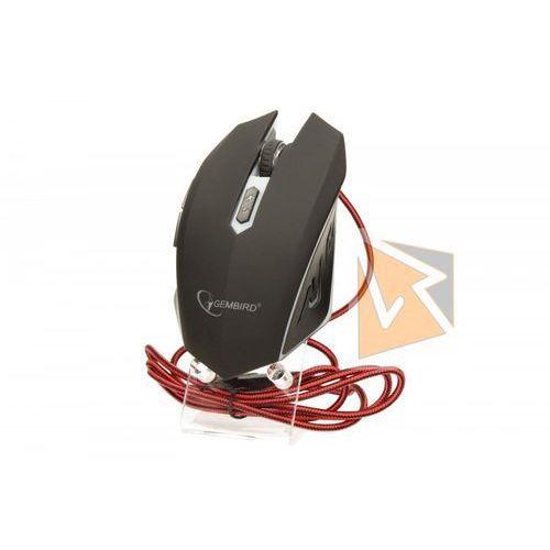 Gembird Mysz optyczna gamming 2400dpi 6-button red (8716309081900)