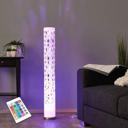 Lampenwelt.com Dekoracyjna lampa stojąca led rgb alisea (4251096513813)