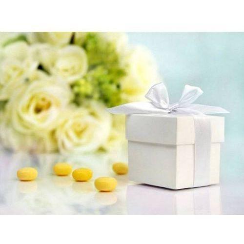 Ap Pudełeczka dla gości z kokardką białe - 10 szt. (5901157437136)