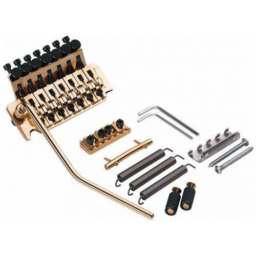seven string vibrato kit gold, incl nut - string retainer, mostek do gitary, zestaw marki Floyd rose