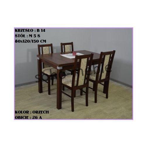 ZESTAW ZEFIR IV 4 KRZESŁA B 14 + STÓŁ M 5 S 80x120/150 CM - produkt z kategorii- zestawy mebli do salonu