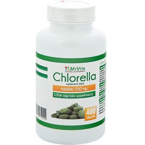 Chlorella 400 tabletek 250mg -PRONESS myvita (2017660049926)