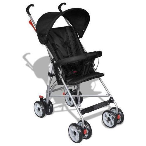 Vidaxl wózek spacerowy dla dziecka czarny (8718475852322)