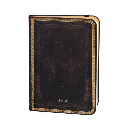 Kalendarz książkowy midi 2018 12M hor.Black Morocc (9781439742174)