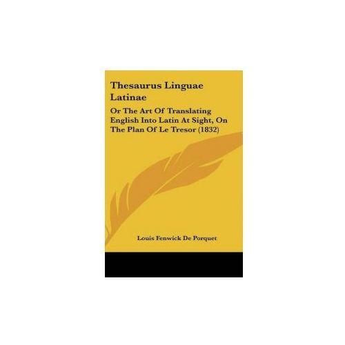 Thesaurus Linguae Latinae (9781104433970)