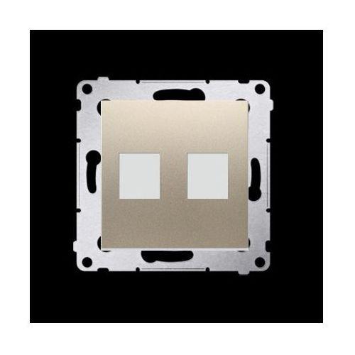 Pokrywa gniazd teleinformatycznych na keystone płaska podwójna (moduł); złoty mat marki Kontakt-simon