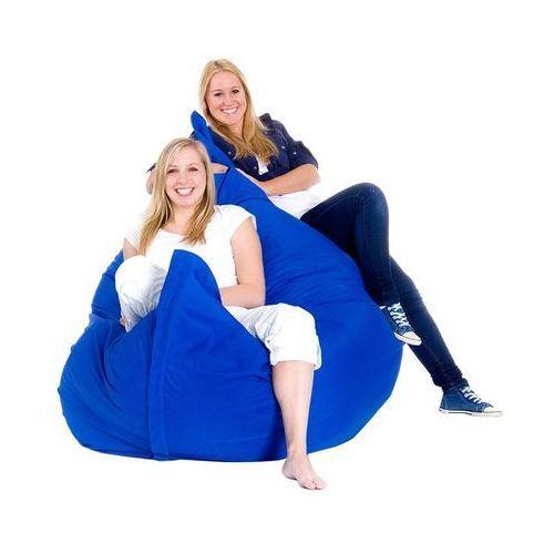 Beliani Xxxl poducha pufa worek do siedzenia 180x230cm niebieski chabrowy