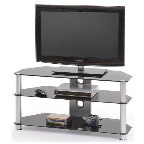 Profeos.eu Aluminiowy stolik rtv silvo - czarny
