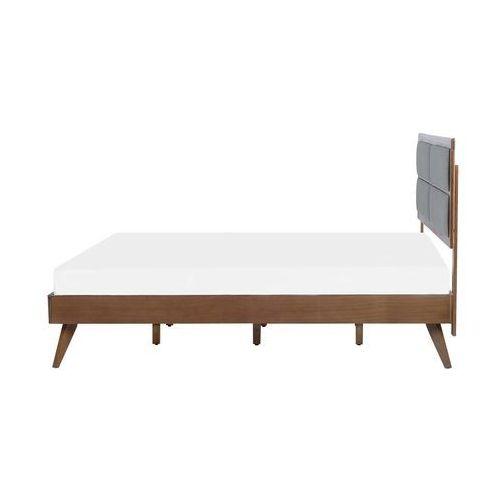 Łóżko wysuwane drewniane szare ze stelażem 90 x 200 cm CAHOR