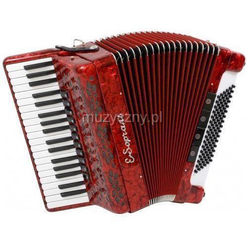964 kc 37/4/11 96/4/4 musette akordeon (czerwony) marki E.soprani