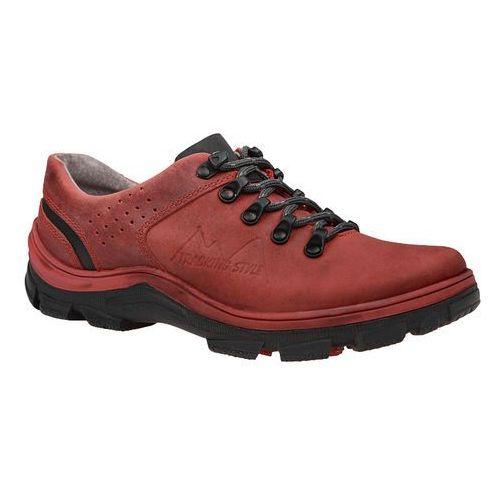 Kornecki Półbuty buty trekkingowe 5329 czerwone - czerwony