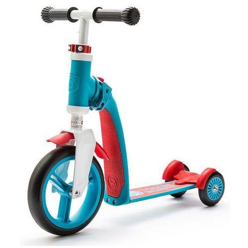 SCOOT & RIDE Hulajnoga i rowerek, Highwaybaby 2 w 1, niebiesko - czerwony (hulajnoga)