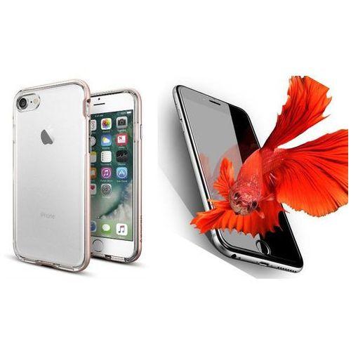 Zestaw   Spigen SGP Neo Hybrid Crystal Rose Gold   Obudowa + Szkło ochronne Perfect Glass dla modelu Apple iPhone 7