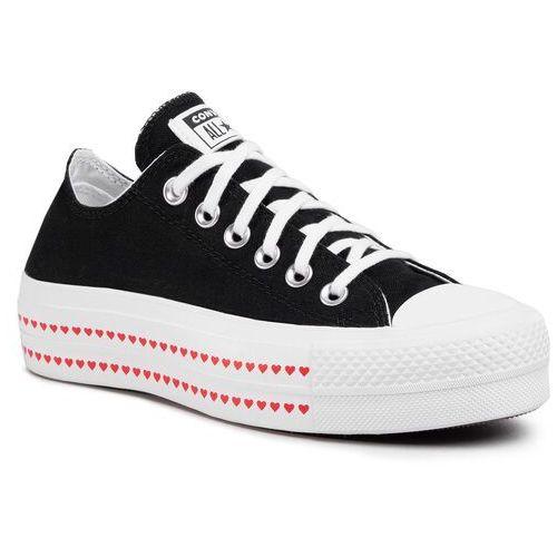 Trampki - ctas lift ox 567158c black/university red/white, Converse, 36-41