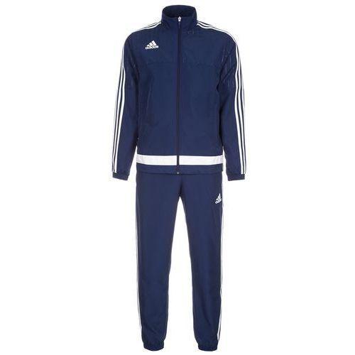 adidas Performance TIRO 15 Dres dark blue/white, materiał poliester, niebieski