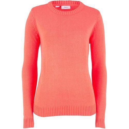 Sweter z golfem, z kaszmirem bonprix jeżynowo-czerwony, z