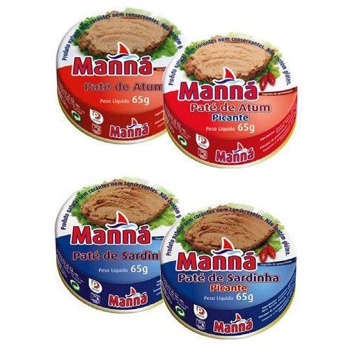 zestaw 5 - portugalskie pasty z tuńczyka i sardynek 12x65g marki Manná