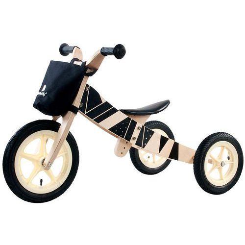 Sun baby Rowerek biegowy drewniany 2w1 twist samoa black e02.001.1.4 (5908446782724)