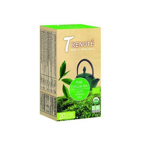 T'renute (herbaty) Herbata zielona pure ceylon tea bio 30 g (1,5 g x 20 szt.) - t'renute