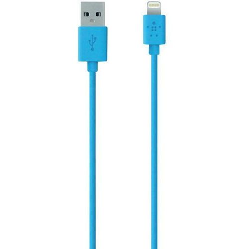 Belkin Kabel usb 2.0,  f8j023bt04-blu, do ipoda, iphone'a, ipada, złącze lightning, 1,2 m, niebieski