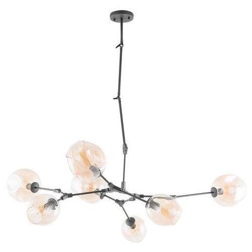 Italux Lampa wisząca nantes 10310/7p-bk zwis 7x60w e27 czarna / brąz (5900644433934)