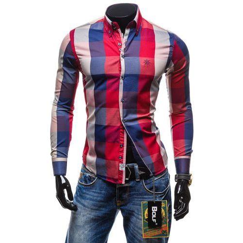 Koszula męska  4701-2 czerwona - CZERWONY marki BOLF