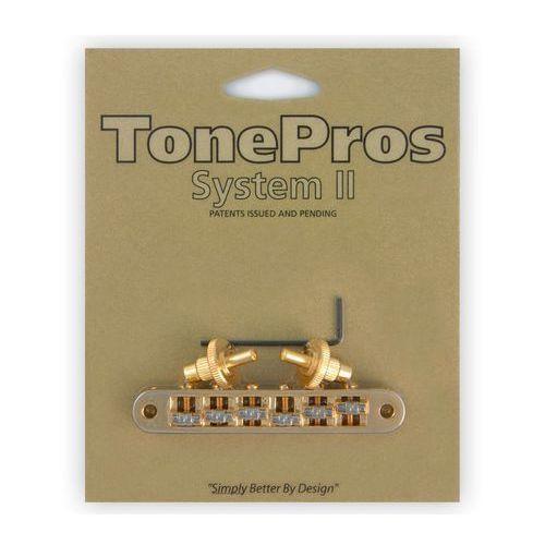 TonePros TP6R-G - Tune-o-matic Bridge, Roller Saddles, mostek do gitary, złoty